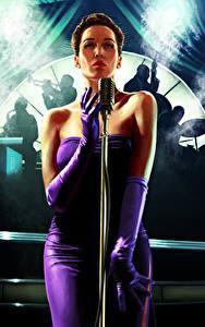 Fonds d'écran L.A. Noire Microphone Les robes jeu vidéo Filles
