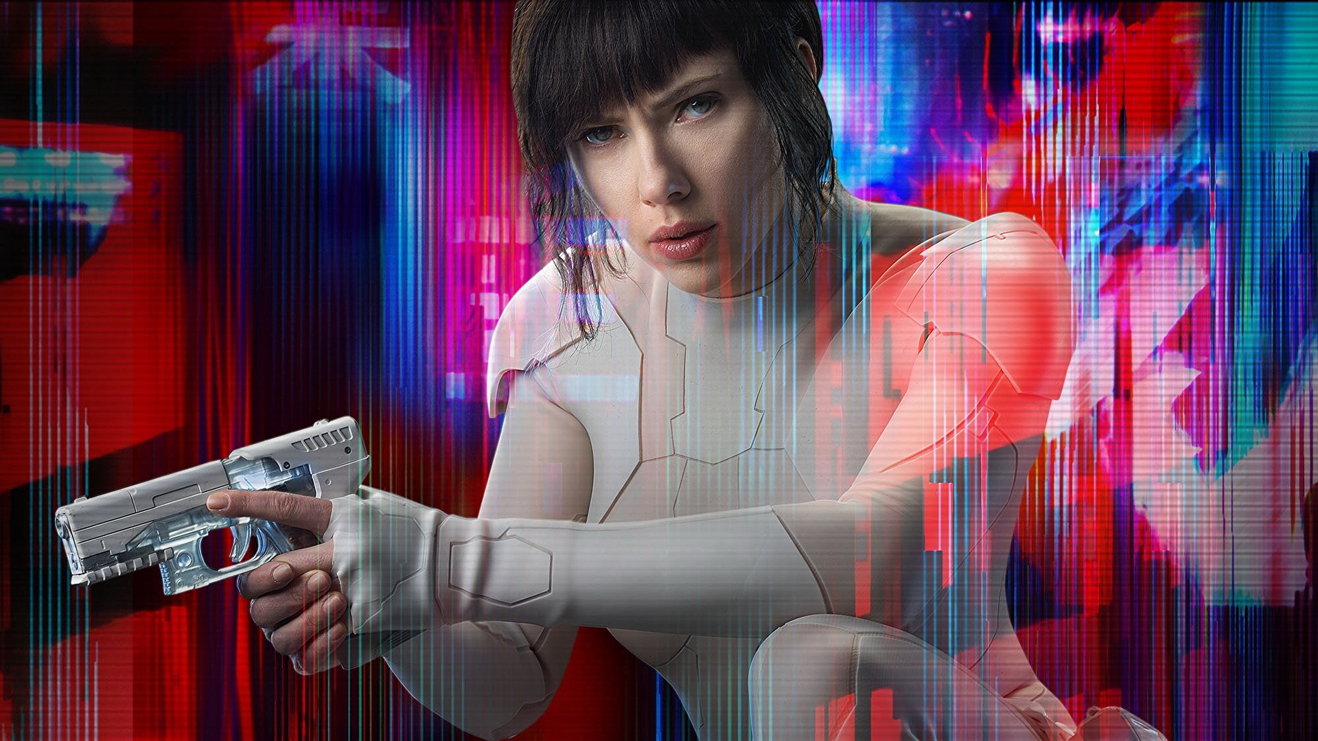 Image Ghost In The Shell 2017 Scarlett Johansson Pistol 1920x1080