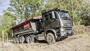 Fotos Mercedes-Benz Lastkraftwagen Schlamm 2017 Arocs 1846 LS HAD Autos