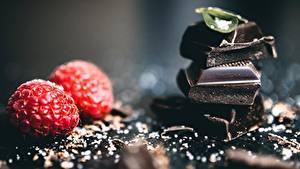 Bilder Schokolade Himbeeren Lebensmittel