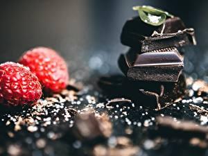 Bilder Schokolade Himbeeren