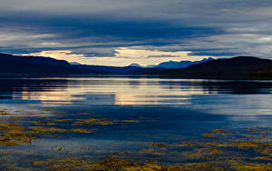 Picture Norway Lofoten Mountains Evening Bay Nature
