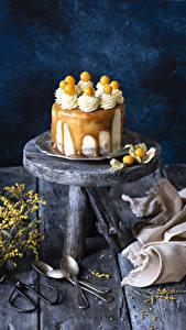 Fotos Süßigkeiten Torte Bretter Löffel Design
