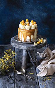 Fotos Süßware Torte Bretter Löffel Design