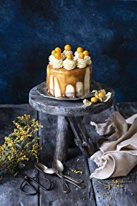 Fotos Süßigkeiten Torte Bretter Löffel Design Lebensmittel