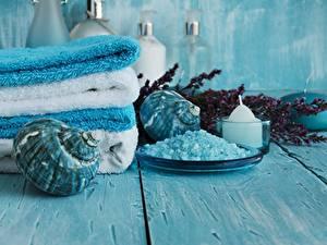 Hintergrundbilder Handtuch Muscheln Spa Salz Bretter