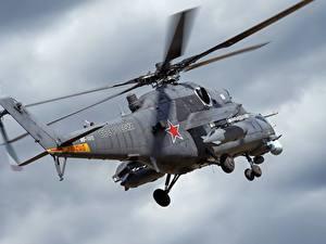 Bilder Hubschrauber Russische Mi-35 Luftfahrt