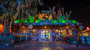 Fotos USA Disneyland Park Gebäude Kalifornien Anaheim Design HDRI Nacht Städte