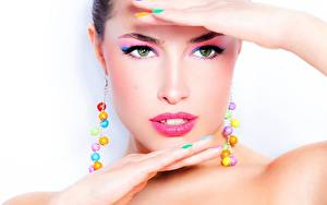 Fotos Gesicht Schminke Starren Model Schön