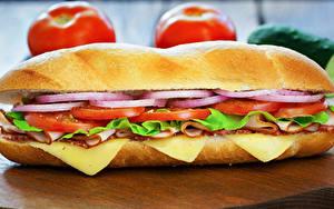 Fotos Fast food Sandwich Brötchen Lebensmittel
