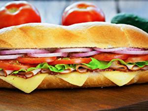 Fotos Fast food Sandwich Brötchen