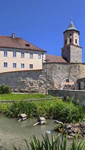 Bilder Deutschland Haus Teich Bayern Gosheim Städte