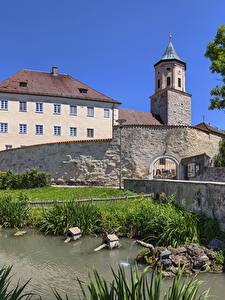 Bilder Deutschland Haus Teich Bayern Gosheim