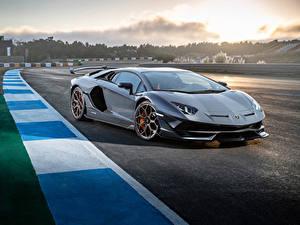 Hintergrundbilder Lamborghini Grau 2018 Aventador SVJ Worldwide