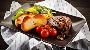 Fotos Fleischwaren Brot Tomate Lebensmittel