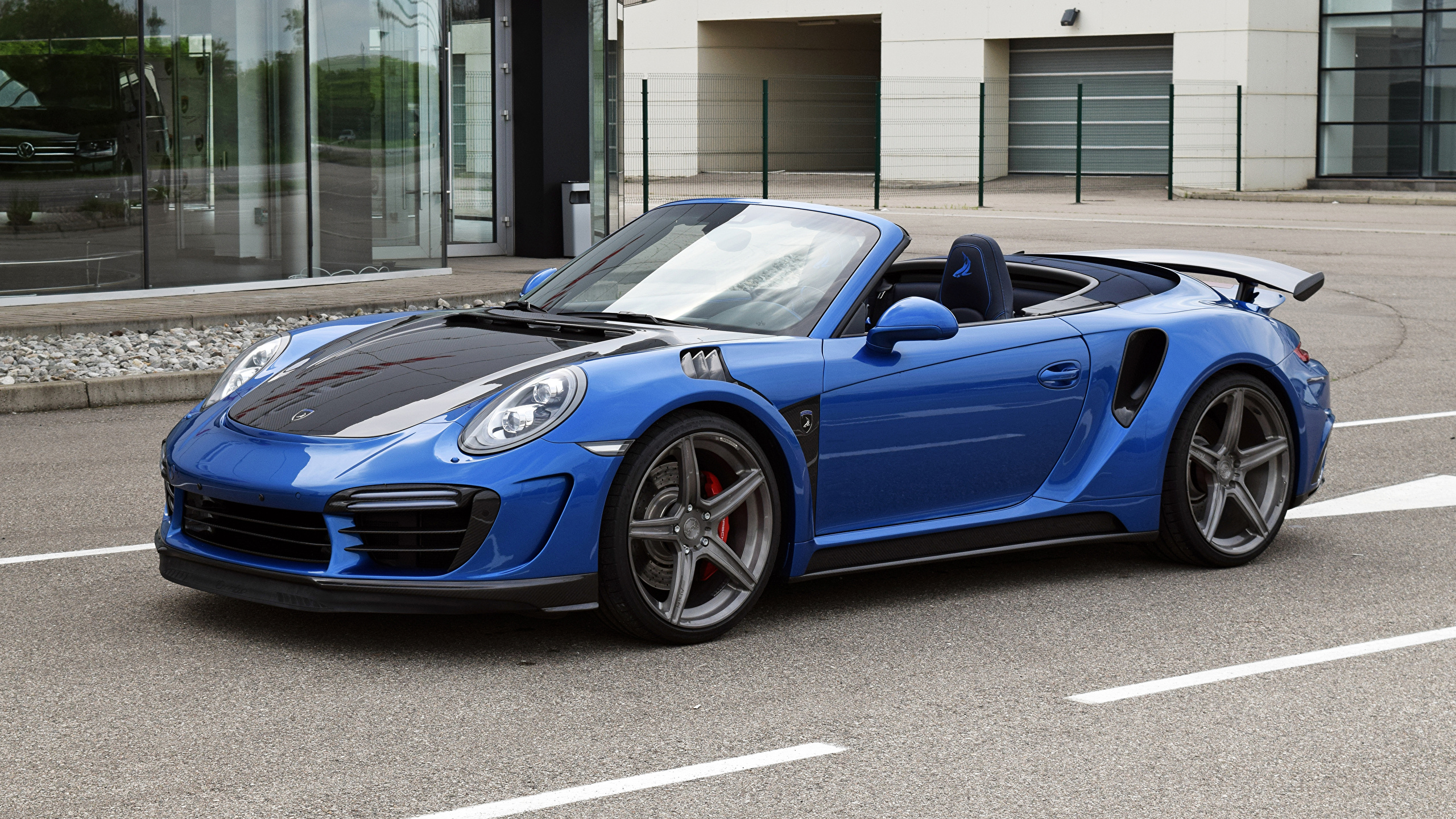Fonds d'ecran 2560x1440 Tuning 2017 TopCar Porsche 911 Turbo Stinger GTR Métallique Cabriolet ...