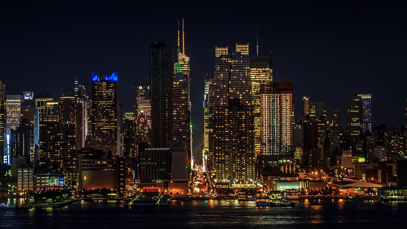 Fonds Decran 1366x768 Usa Gratte Ciel Manhattan New York