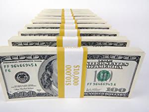 Fotos Geld Papiergeld Dollars Grauer Hintergrund