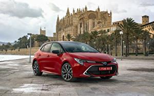 Hintergrundbilder Toyota Hybrid Autos Rot Metallisch 2019 Corolla Hybrid Worldwide