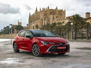 Hintergrundbilder Toyota Hybrid Autos Rot Metallisch 2019 Corolla Hybrid Worldwide automobil