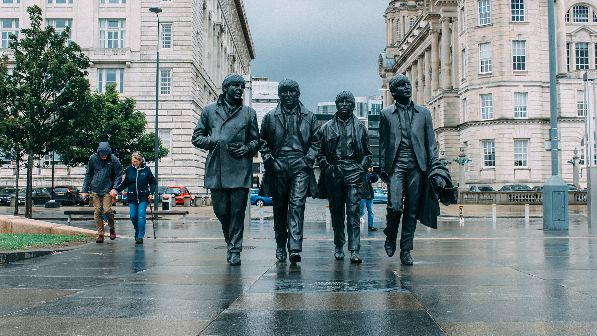Image The Beatles England Monuments Liverpool Cities 1920x1080