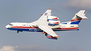 Bilder Flugzeuge Flug Seitlich Be-200ES Luftfahrt