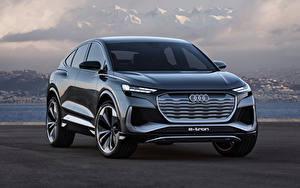 Bilder Audi Crossover Vorne Metallisch Q4 Sportback e-tron Concept, 2020 auto