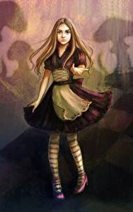 Hintergrundbilder Gezeichnet Kleine Mädchen Kleid Alice Fantasy