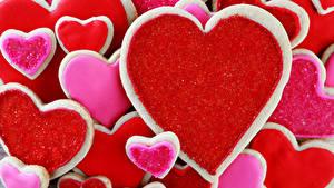 Papéis de parede Dia dos Namorados Bolacha Pastelaria Coração Alimentos