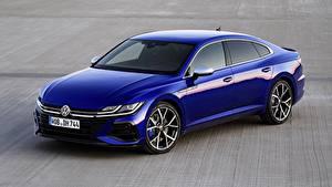 Fotos Volkswagen Blau Metallisch Arteon, R-Line, 2020