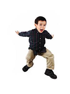 Hintergrundbilder Weißer hintergrund Jungen Sprung Hand Glückliches kind