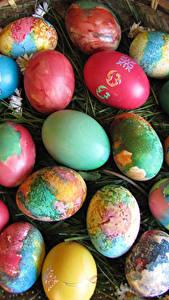 Hintergrundbilder Feiertage Ostern Viel Eier