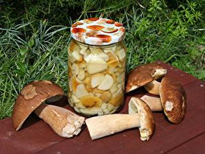 Hintergrundbilder Pilze Weckglas das Essen