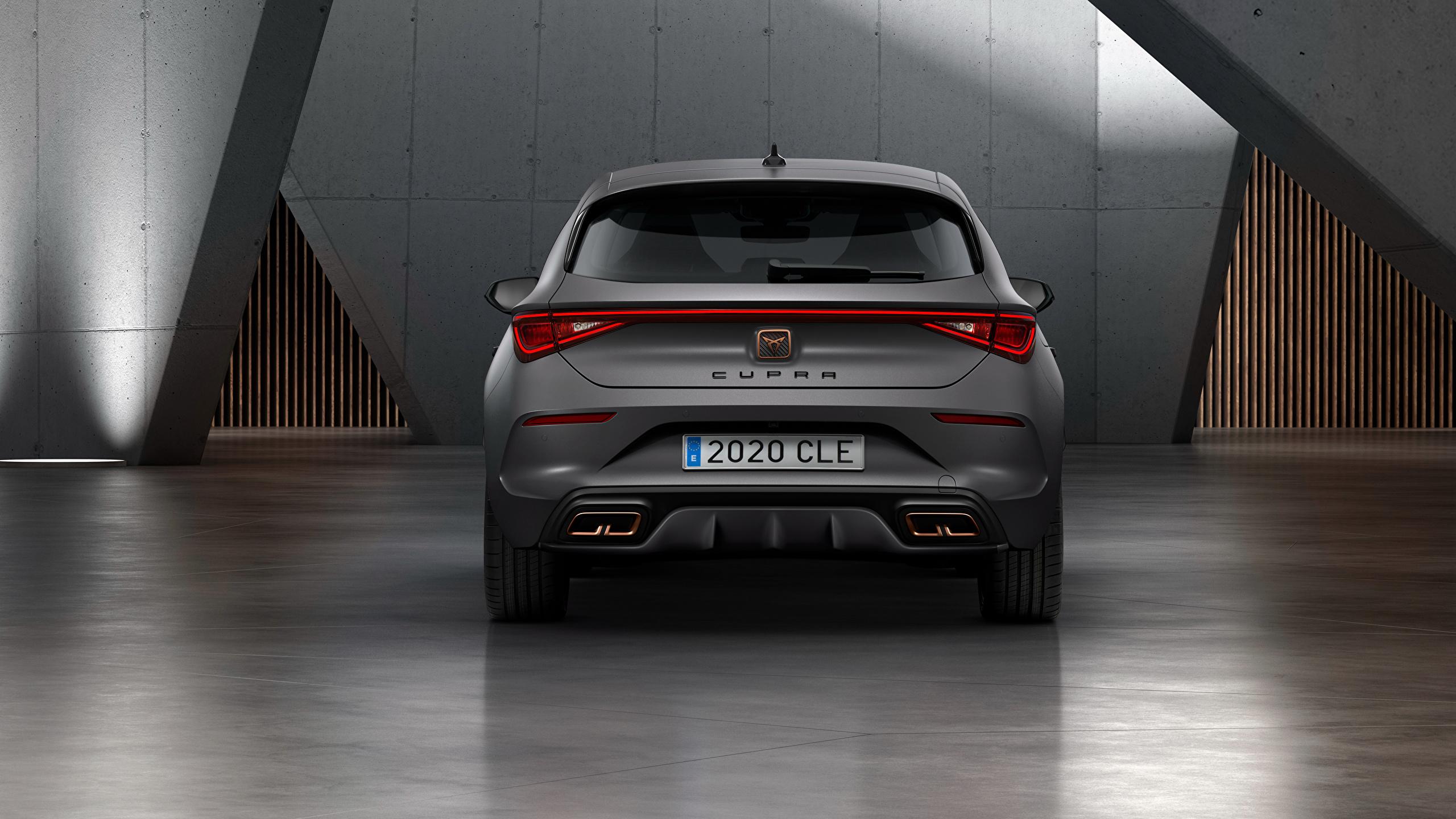 Fotos von Seat Cupra, Leon, eHybrid, Worldwide, 2020 graues Hinten automobil 2560x1440 Grau graue auto Autos