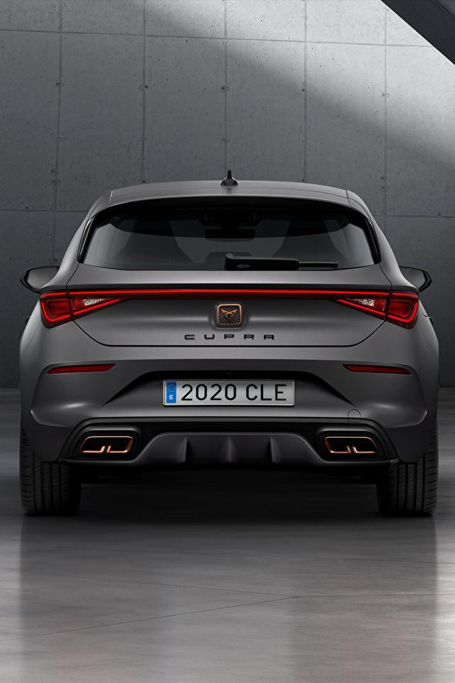 Fotos von Seat Cupra, Leon, eHybrid, Worldwide, 2020 graues Hinten automobil 640x960 für Handy Grau graue auto Autos