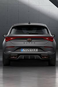 Papel de Parede Desktop Seat Cinza De volta Cupra, Leon, eHybrid, Worldwide, 2020 carro