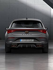 Desktop hintergrundbilder Seat Graue Hinten Cupra, Leon, eHybrid, Worldwide, 2020 auto