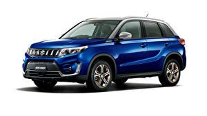 Hintergrundbilder Suzuki - Autos Blau Metallisch Crossover Weißer hintergrund Escudo S Limited, 2020 Autos