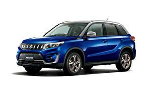 Desktop hintergrundbilder Suzuki - Autos Blau Metallisch Crossover Weißer hintergrund Escudo S Limited, 2020 Autos
