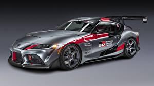 Fondos de escritorio Toyota Gris Coupe GR Supra Track Concept, 2020 autos