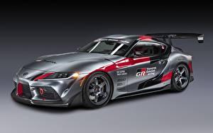 Tapety na pulpit Toyota Szary Coupé GR Supra Track Concept, 2020 samochód