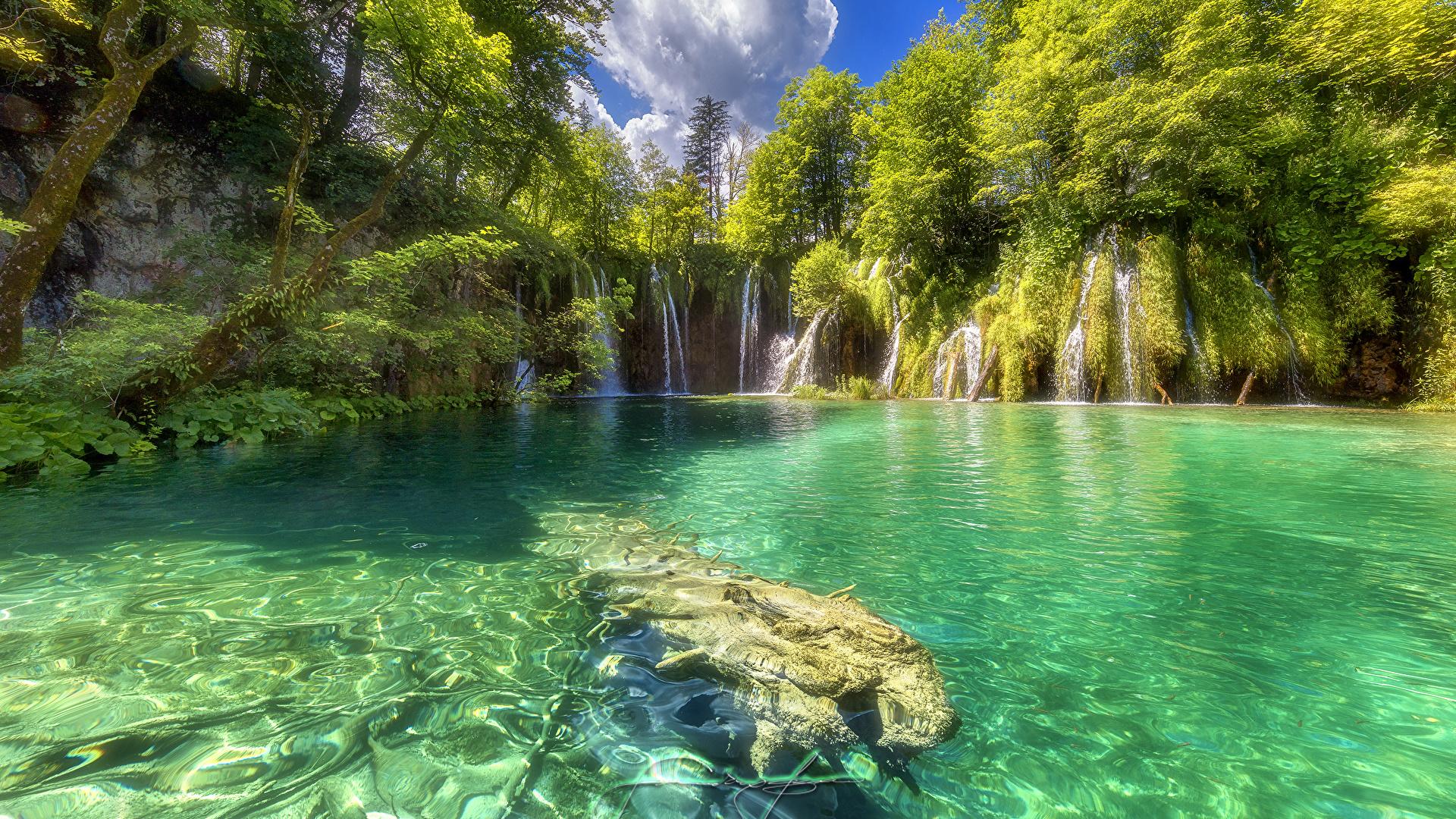Photos Croatia Plitvice Lakes National Park Nature 1920x1080