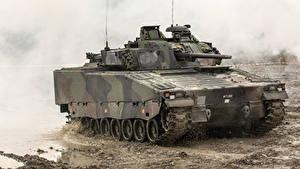Bilder SPz Schlamm Combat Vehicle 90, Sweden Militär