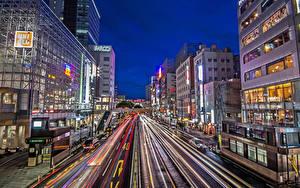 Bilder Japan Gebäude Straße Abend Stadtstraße Sendai Städte