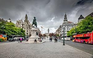Hintergrundbilder Denkmal Portugal Porto Straße
