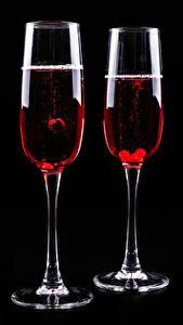 Hintergrundbilder Wein Schwarzer Hintergrund Zwei Weinglas