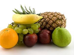 Hintergrundbilder Obst Weintraube Bananen Ananas Orange Frucht Äpfel