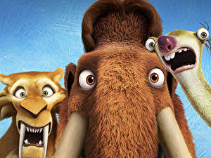 Wallpapers Mammoth Ice Age: Collision Course Diego, Manny, Sid Cartoons