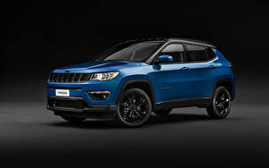Hintergrundbilder Jeep Grauer Hintergrund Blau 2018-19 Compass Night Eagle Worldwide Autos