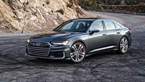 Hintergrundbilder Audi Graue Metallisch 2020 S6 Sedan TFSI auto